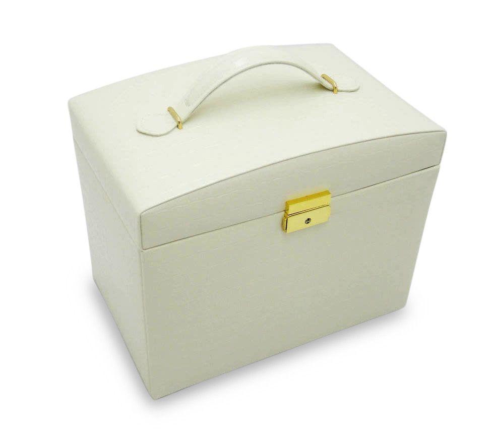 Morelle Company Jackquilyn Large Leather Illuminated Jewelry Box