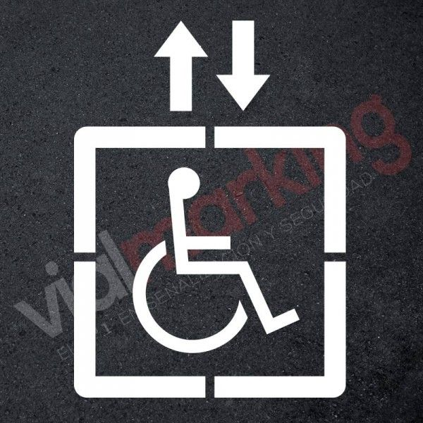 Vinilo señalización adhesivo señal acceso ascensor silla ruedas ...