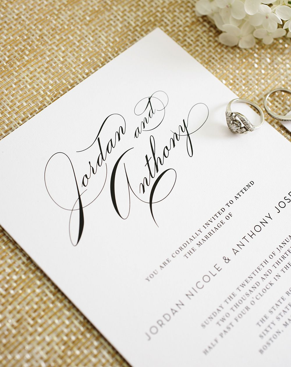 Glamorous Wedding Invitations Classic Weddings Timeless Wedding