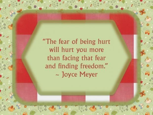 O medo de sofrer vai magoar-te mais do que enfrentar o medo e encontrar a felicidade!