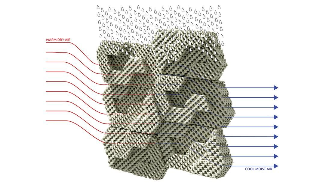 3D Printed 'Cool Bricks' Can Cool an Entire Room Using Water