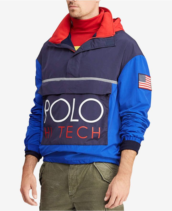 058bcc261c084 Polo Ralph Lauren Men s Hi Tech Color-Blocked Pullover
