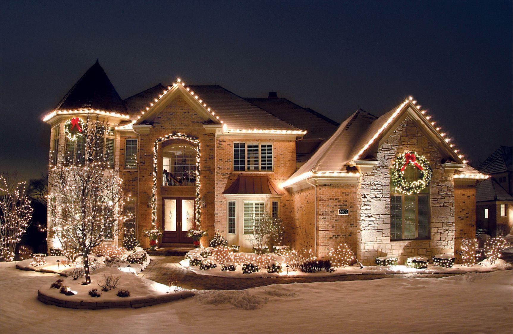 C9 Roofline LED lights. Christmas light installation