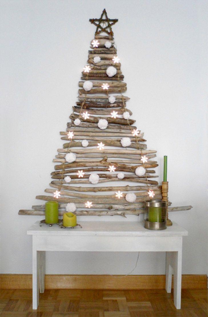 11 Ideias Para Arvores De Natal Montadas Na Parede Decoracoes De