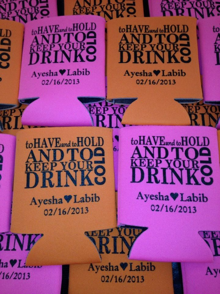 To Have And Hold Koozies Lot Of 100 Personalized Wedding Beer Coozies Custom Can Party Favor