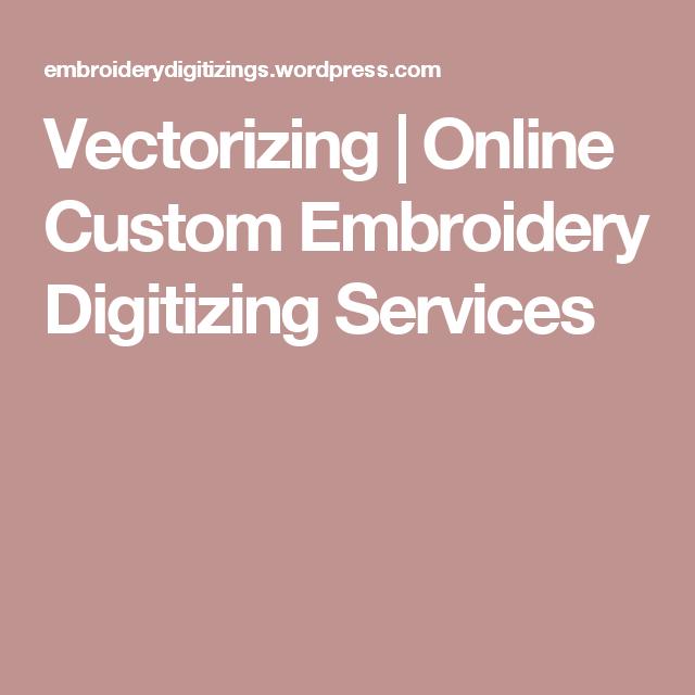 Vectorizing Online Custom Embroidery Digitizing Services Machine