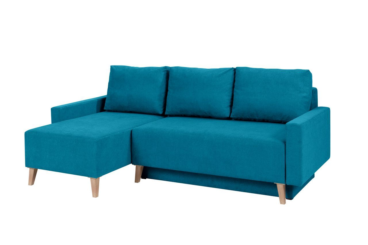 Sven Eck Sofa Mit Schlaffunktion Turkis Velours Sofa Couch Mobel