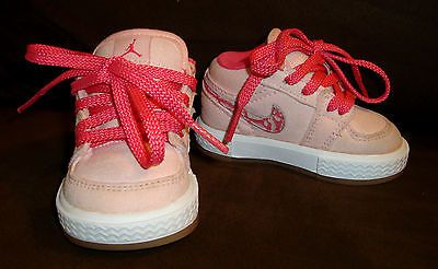 Size 3 C NIKE Retro Light Pink   White AIR JORDAN Baby Girl Infant Toddler  Shoes 2a5ab4371