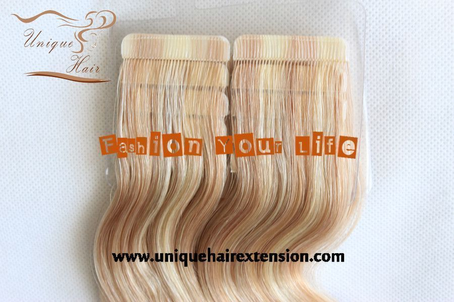 Remy Tape In Hair Extensions Wavy Factory Produce The Best Quality