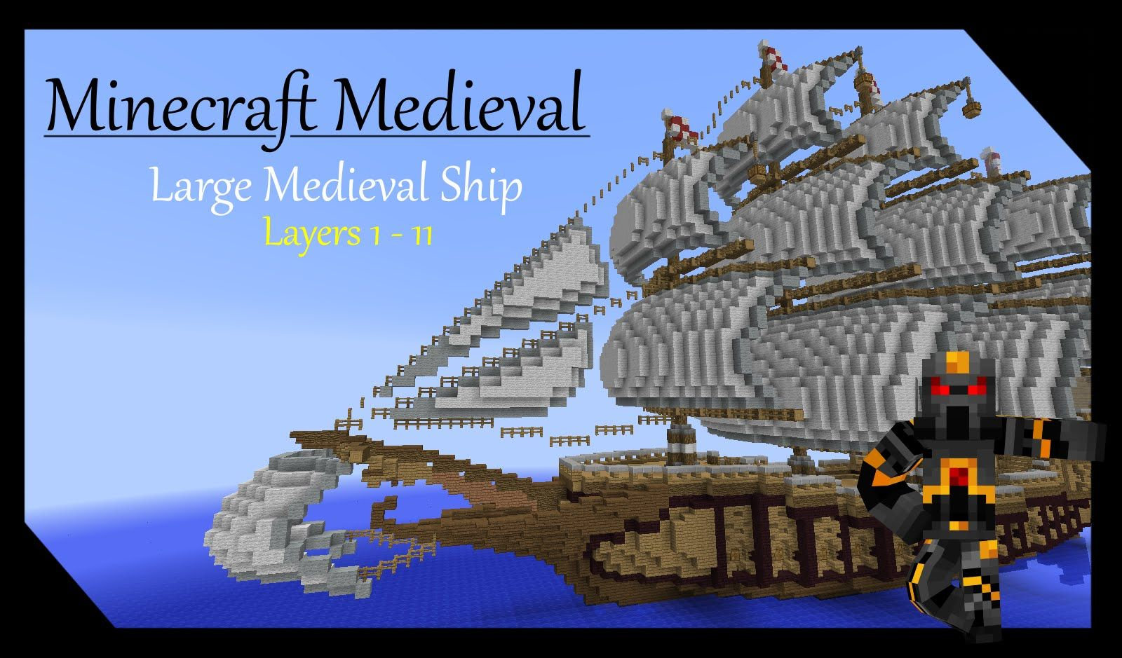Minecraft Medieval Builds - Large Ship Tutorial - Part 1 of 7