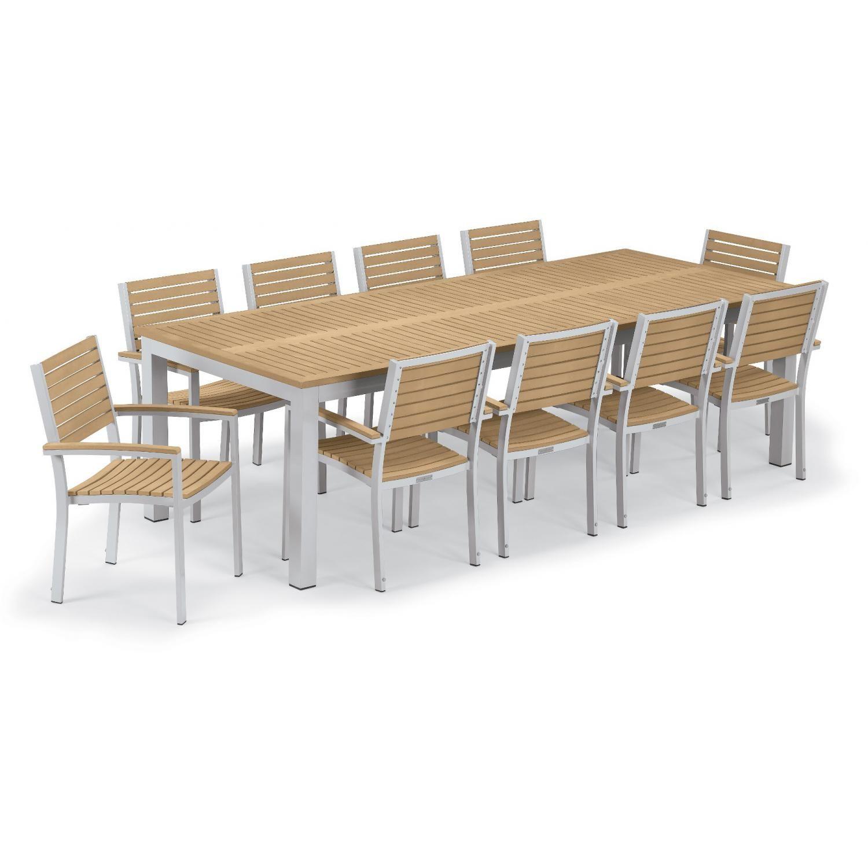 Travira 11 Piece Aluminum Patio Dining Set W 103 X 42 Inch