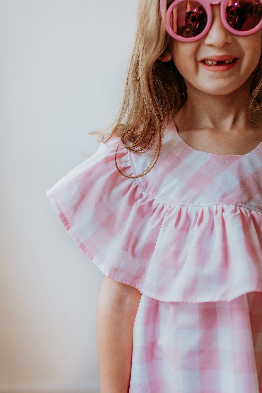 Ellie dress plaid outfits pink plaid dress kids outfits