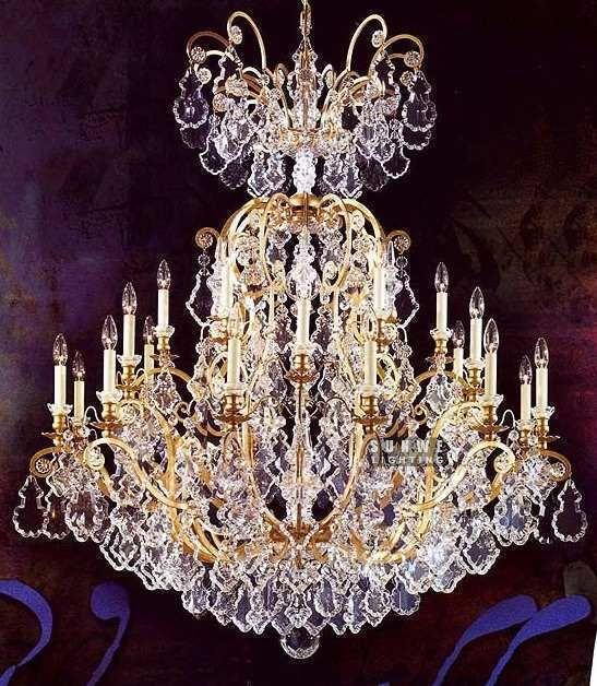 Aliexpress Com Buy Large Crystal Chandelier For Sale 25 Lights Gold Chandelier With Crystal For Hotel E9054 113cm W X130cm H From Reliable Large Chandelier Su