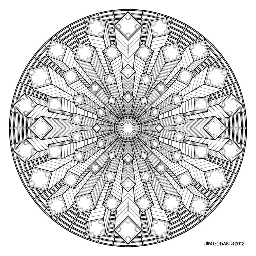 Difficult level mandala coloring pages mandala drawing by