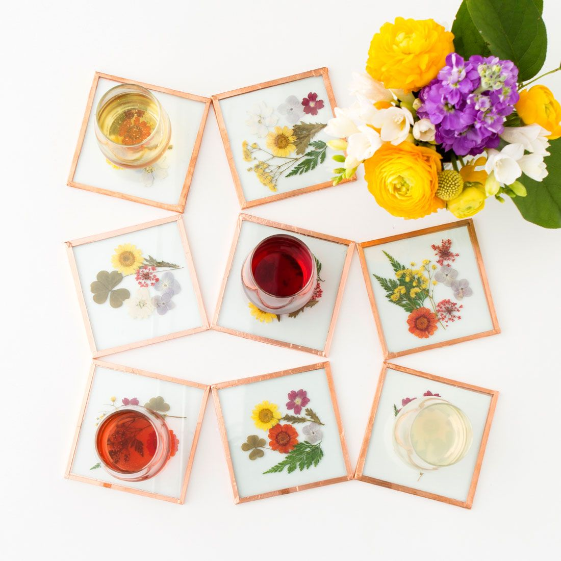 DIY These Pretty Coasters Instead of Buying Flowers for Mom | Art ...