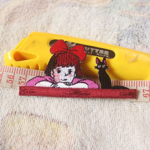 Kiki's Delivery Service Patch Embroidered patch Iron on Patch Sew on Patches Iron on Applique Cartoon patch
