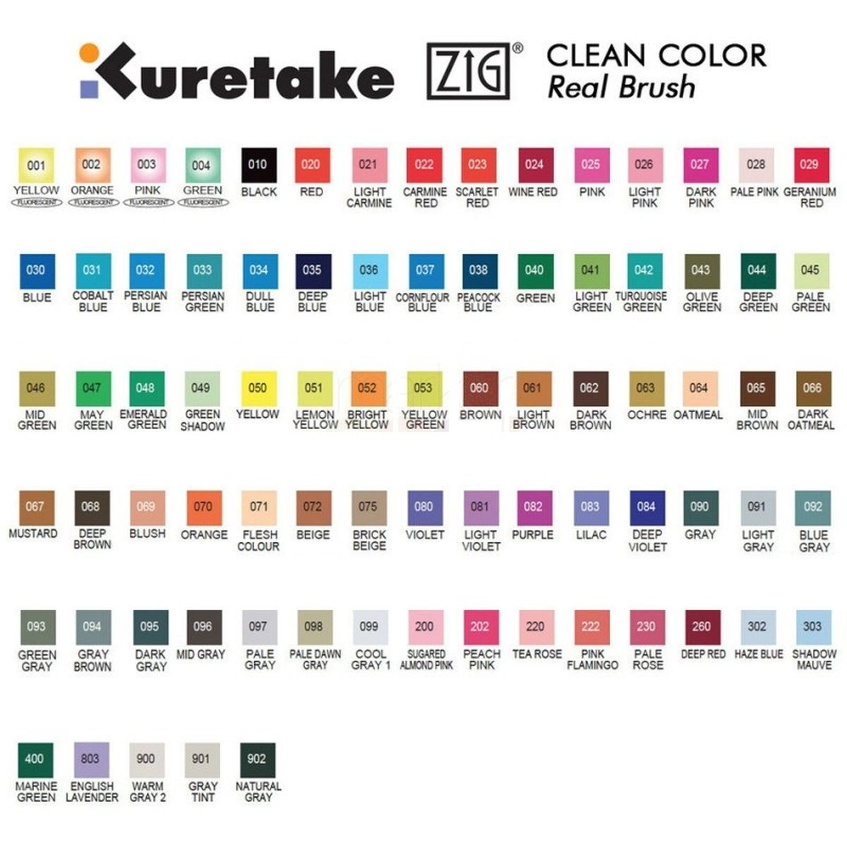 Kuretake Zig Clean Color Real Watercolor Brush Pens 80 Brush