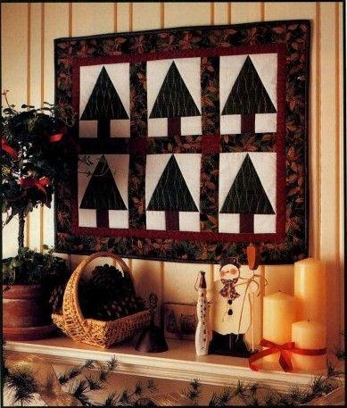 Simple Elegant Christmas Trees Quilted Wall Hanging Pattern & Simple Elegant Christmas Trees Quilted Wall Hanging Pattern ... pillowsntoast.com