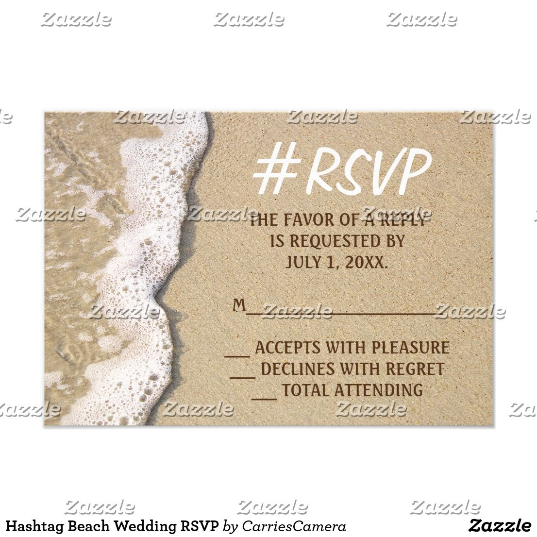 Hashtag Beach Wedding RSVP Wedding rsvp