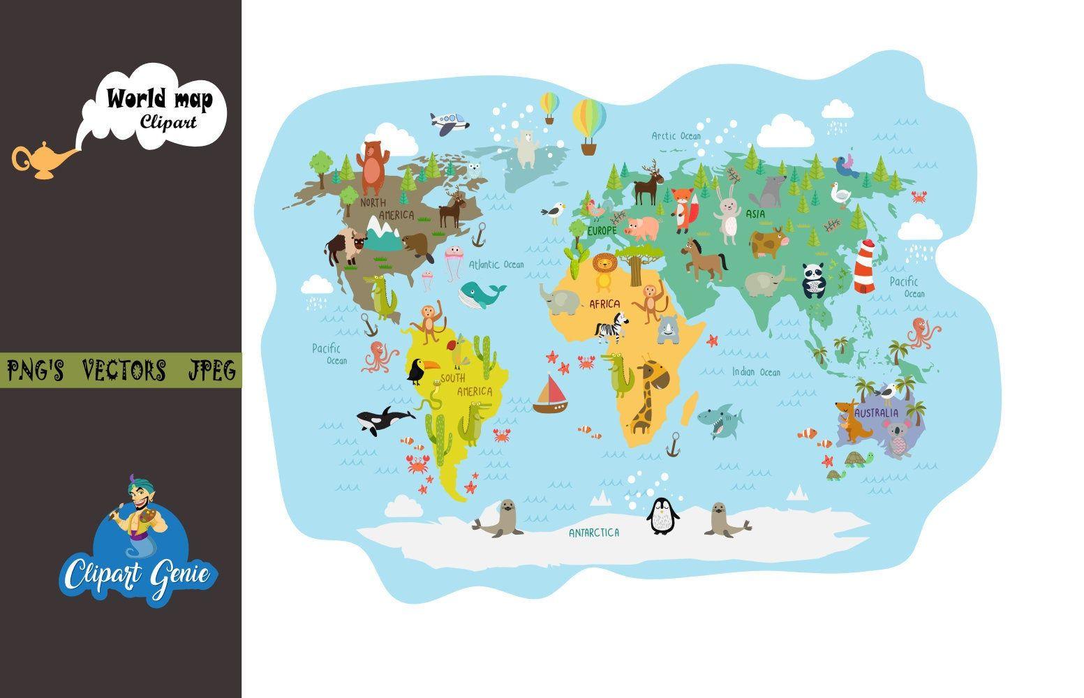 world map clipart, world map clipart, map clipart, school ...