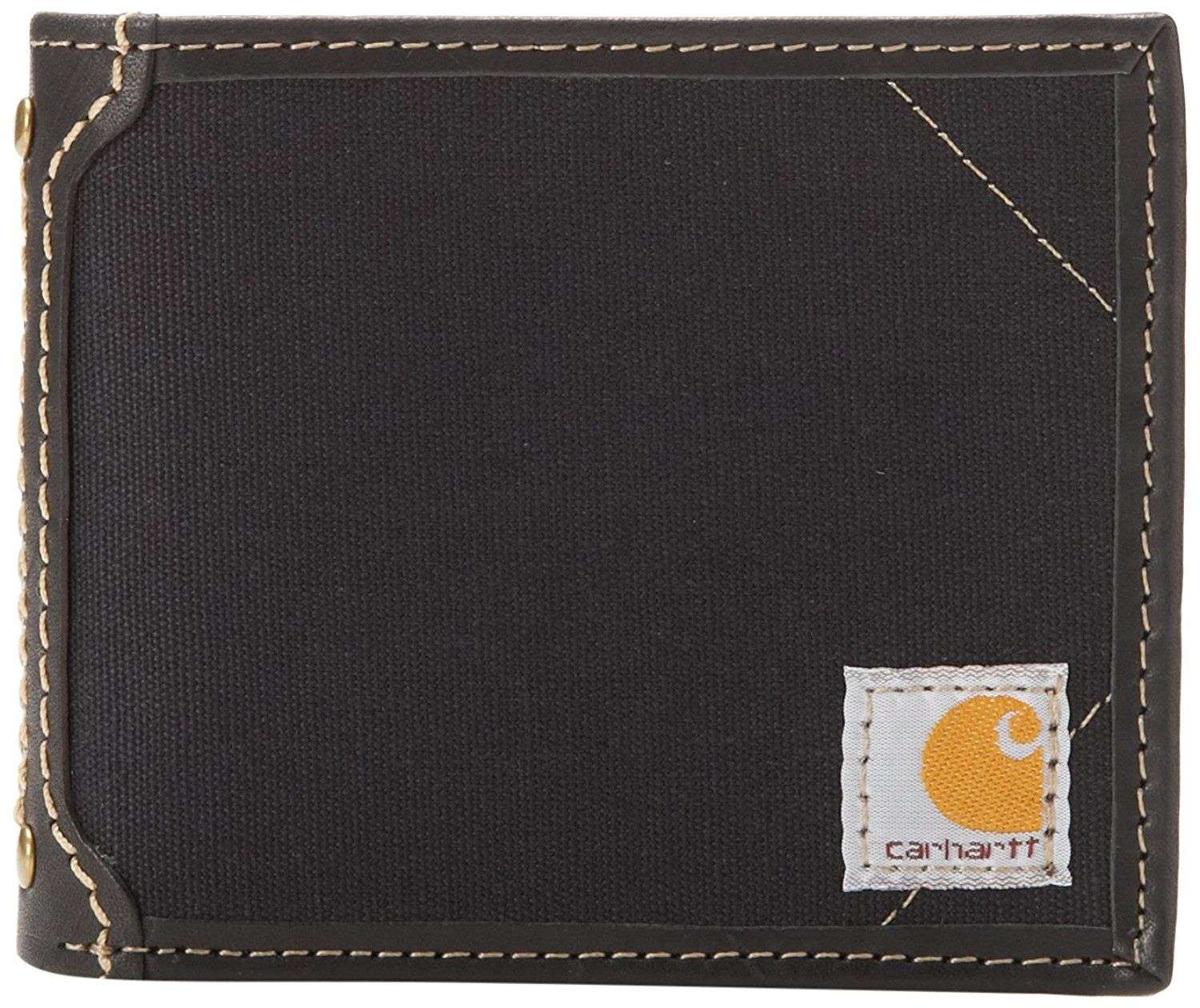Carhartt mens canvas wallet with removable passcase