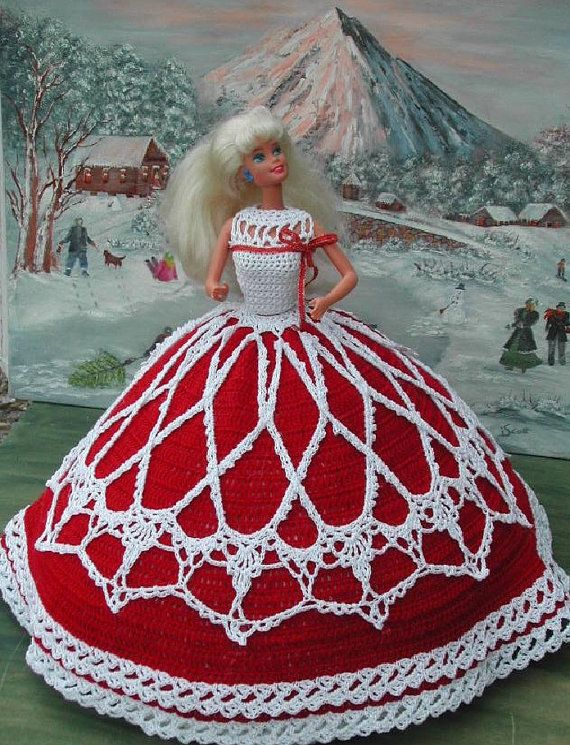 Crochet Fashion Doll Barbie Pattern- #15 COUNTRY CHRISTMAS   Barbie ...