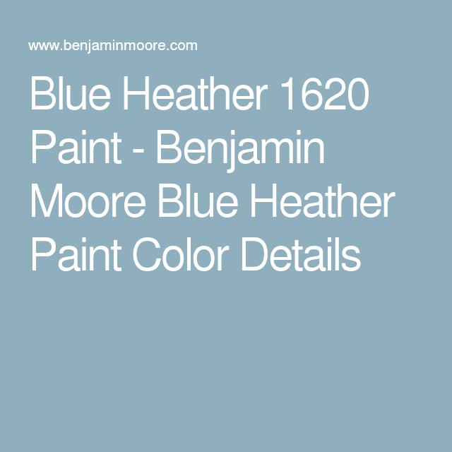 Blue Heather 1620 Paint Benjamin Moore