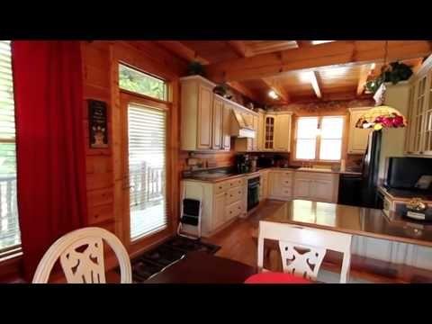Log Home for overnight rental Near Gatlinburg - YouTube