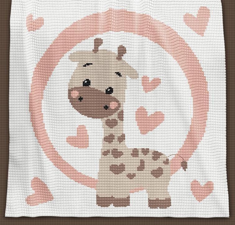 CROCHET Baby Blanket - Giraffe | Patrones manta, Manta y Patrones