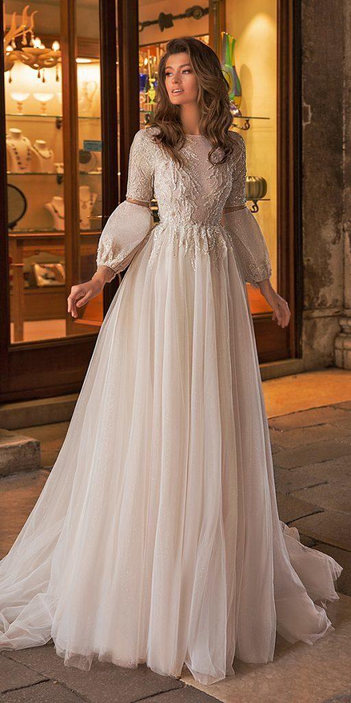 21 bescheidene Brautkleider mit Ärmeln | Hochzeitskleider Guide