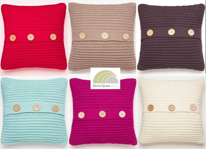 Chunky Knit Knitted Soft Square Cushion Cover By Catherine Lansfield