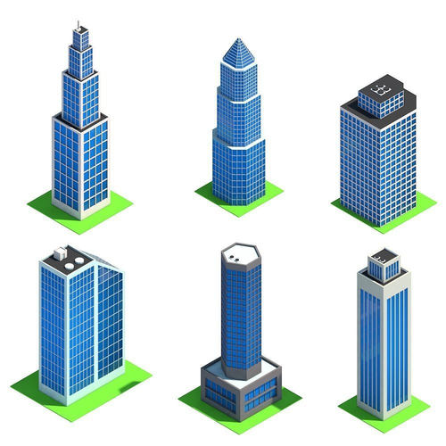 Low Poly Cityscape Pack 3d Model Low Poly Minecraft Modern City Minecraft City Buildings