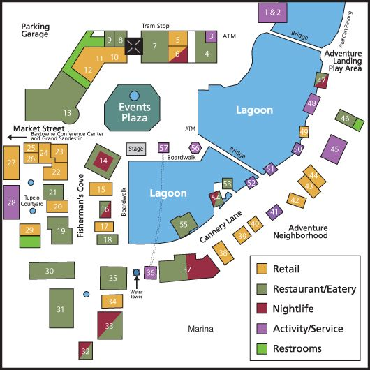 Sandestin Village Of Baytowne Wharf Map Destin Florida