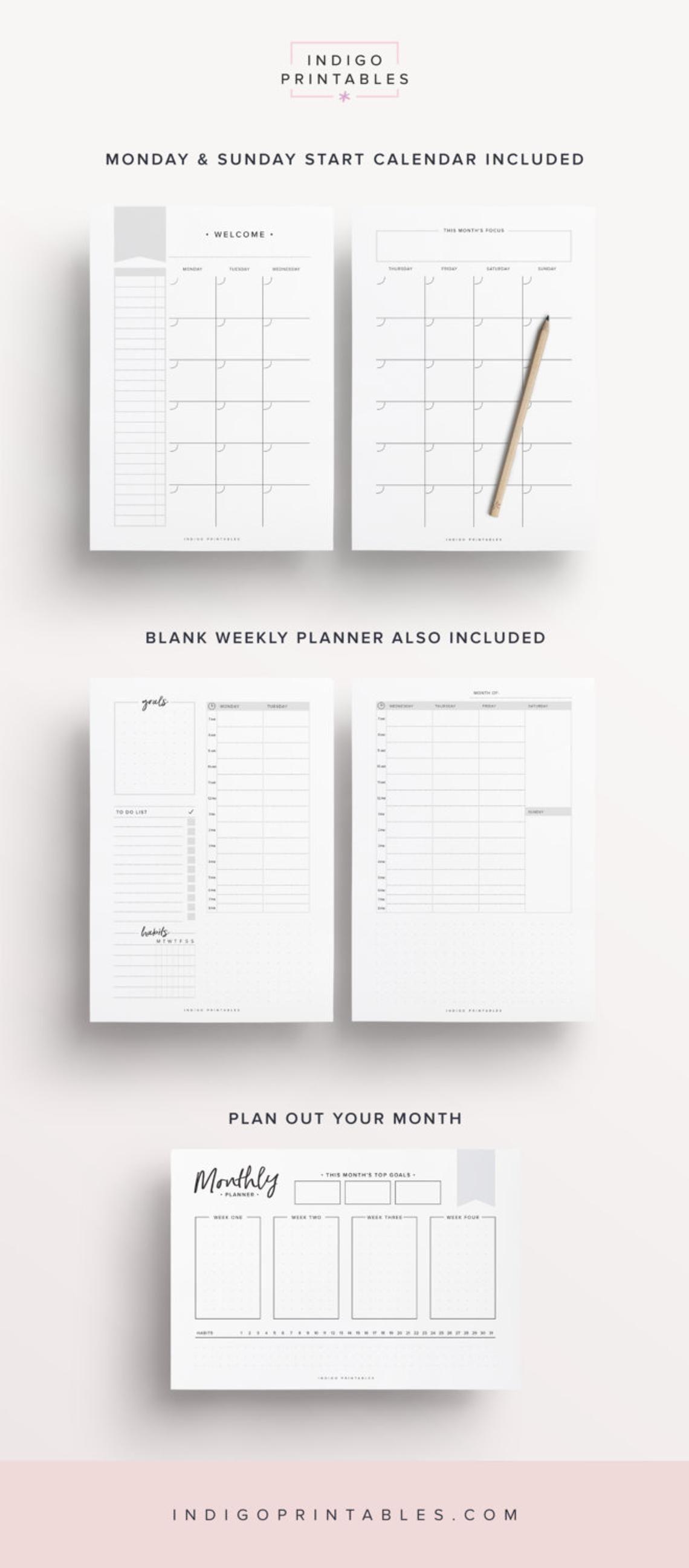Productivity Planner Goal Planner Success Printable