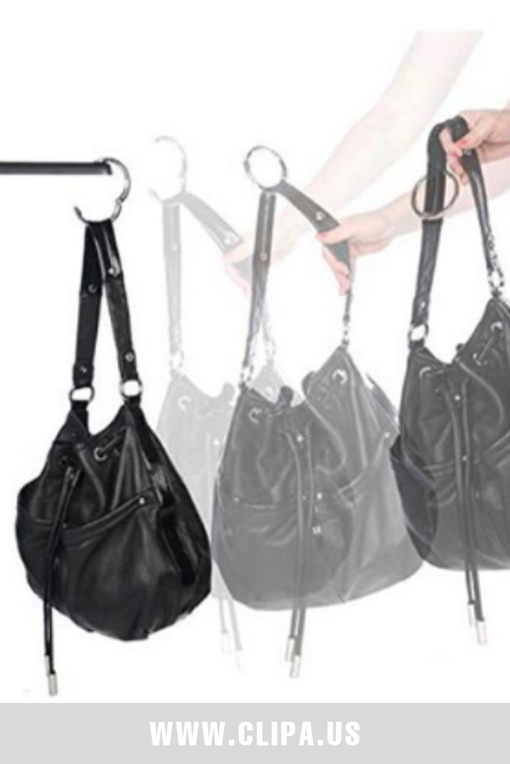 The Clipa is an instant handbag hanger that goes on—not in—purses for quick  use. No more frustrating searches: there's n… | Bag hanger, Purse hanger, Handbag  hanger