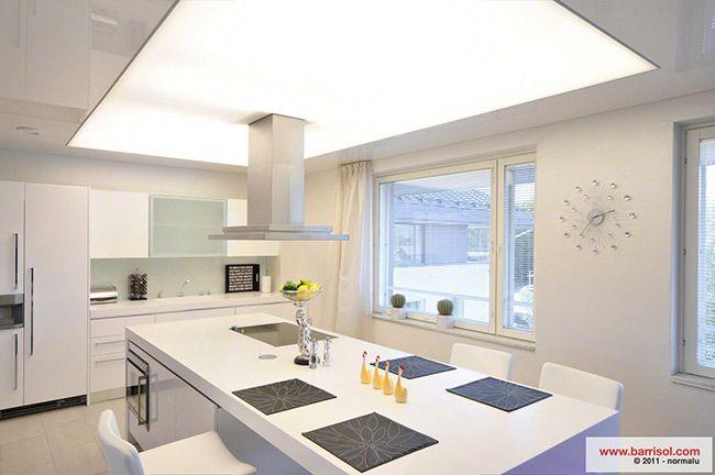 Plafoniere Per Soffitti Inclinati : Barrisol soluzioni per la casa cucina controsoffitti nel