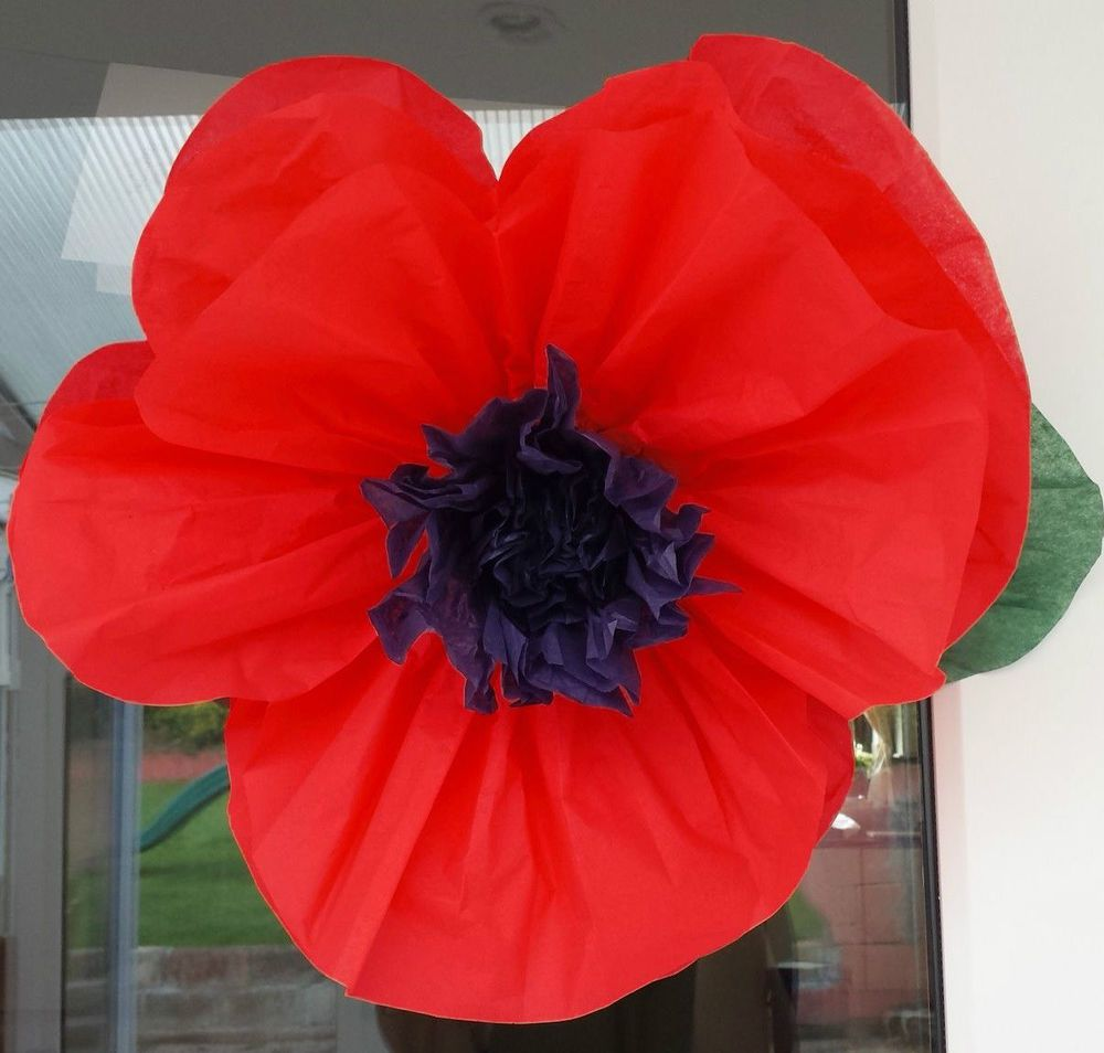 Tissue paper flower 45cm poppy venue decorations wizard of oz made out of tissue paper can either be hung around chairs or put on a mightylinksfo