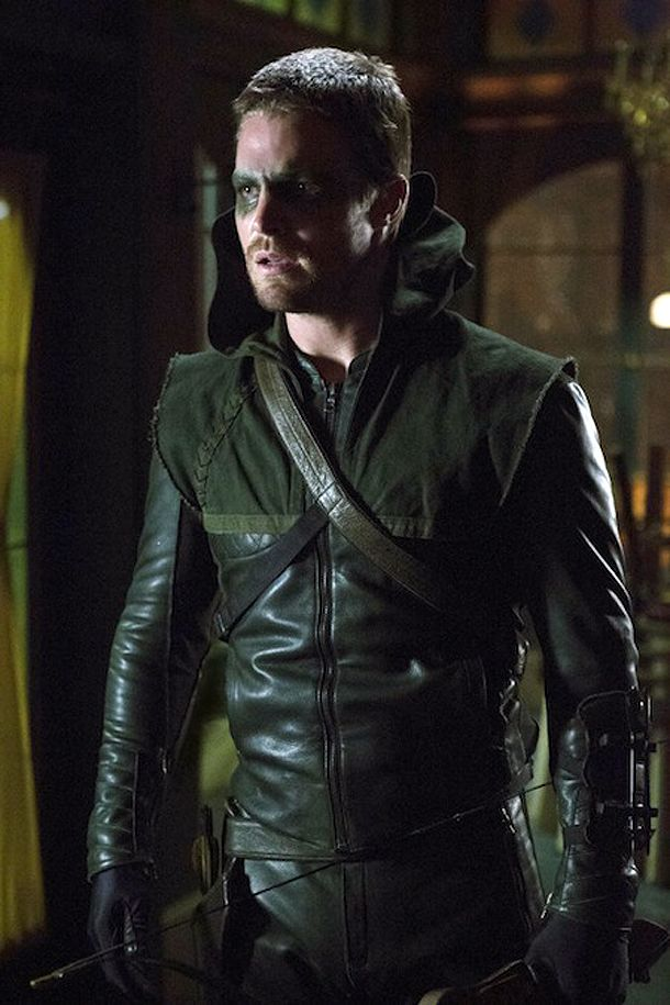 Stephen Amell as The Hood aka Arrow aka Green Arrow ...