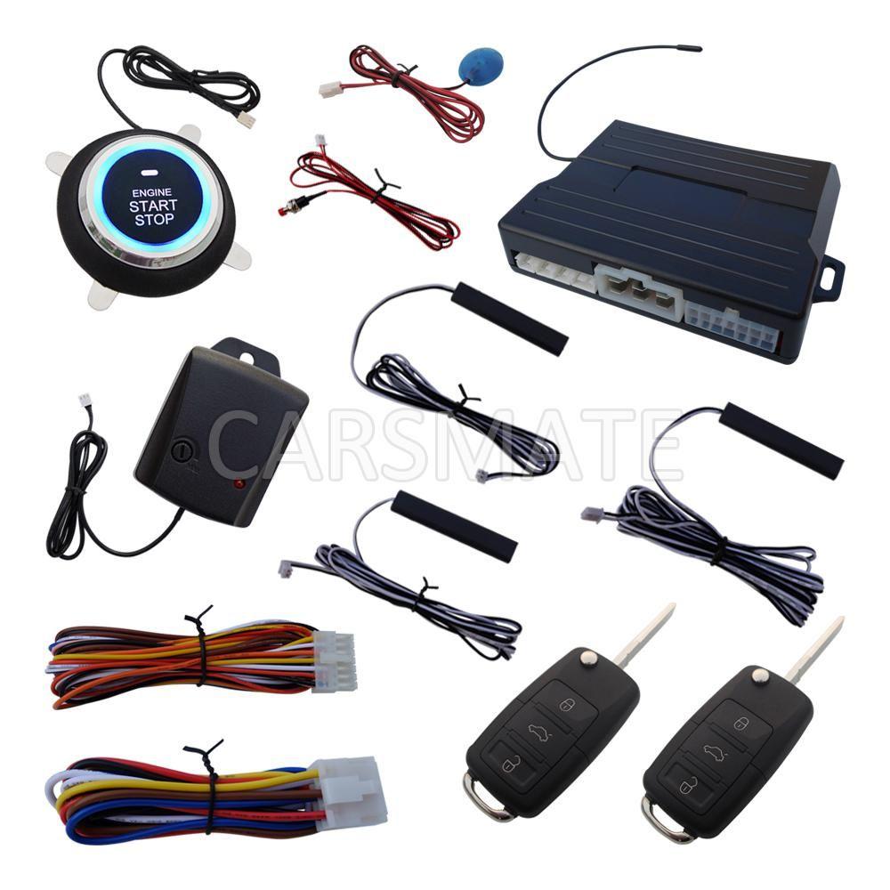 Smart HAA Flip Key PKE Car Alarm System Push Start Remote