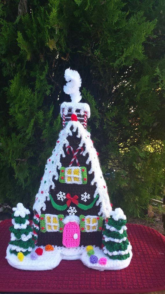 GINGERBREAD HOUSE OOAK Handmade crochet by emcrafts on Etsy | owl ...