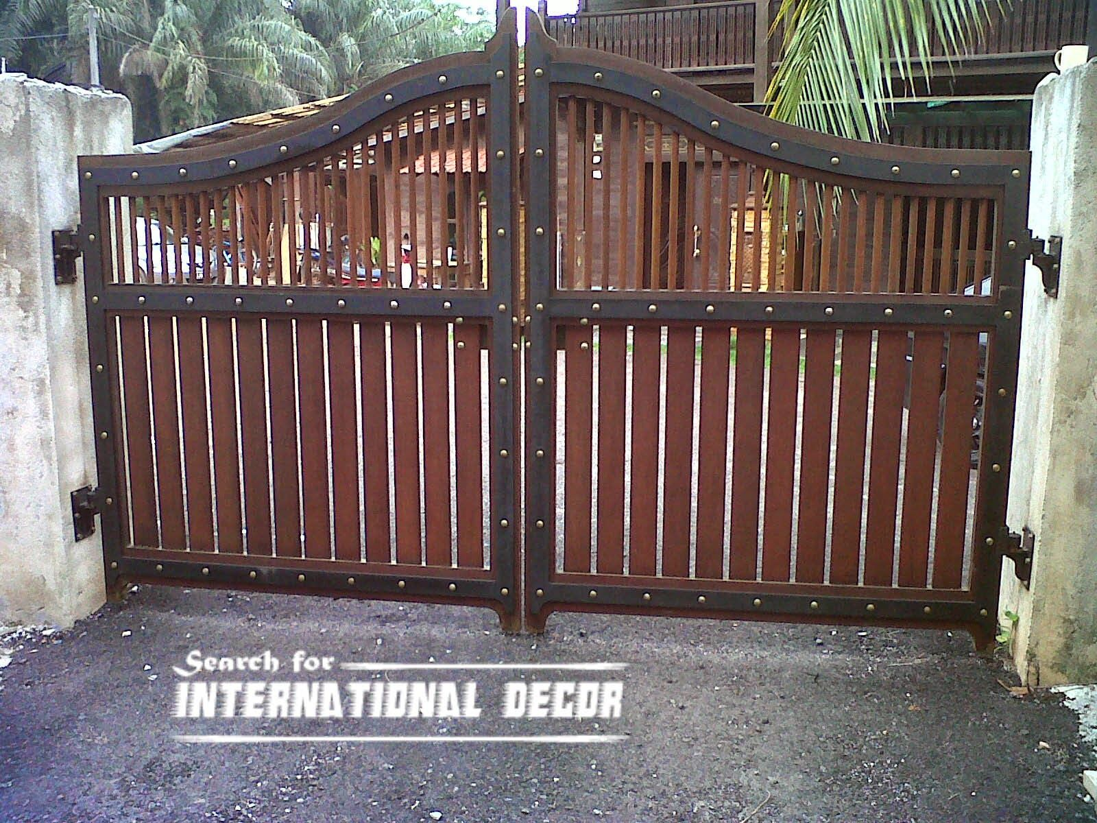 Gate designs  Gate designs for private house and garage  wooden gate design. Gate designs  Gate designs for private house and garage  wooden