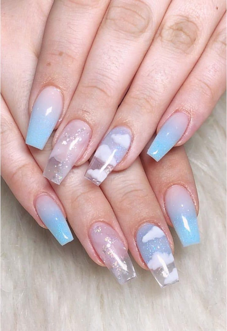 Shared By Angel Find Images And Videos About Cute Tumblr And Blue On We Heart It The App To Get Lost In What Yo Best Acrylic Nails Kawaii Nails Dream Nails
