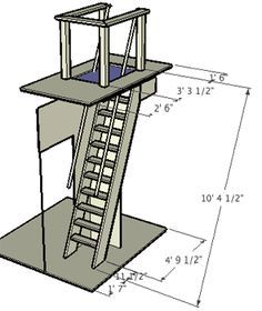 Attic ladder dimensions google search trap door to for Wood mezzanine construction plan