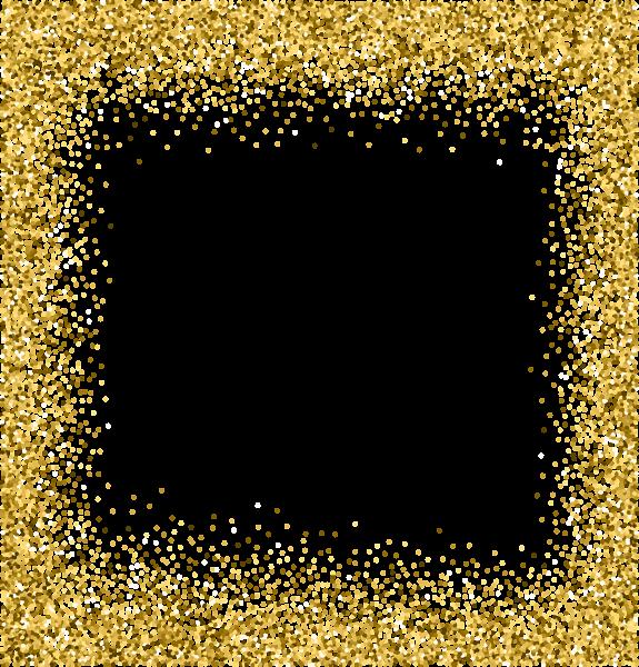 Gold Deco Border Png Clip Art Image Gold Glitter Background Glitter Background Sparkles Background
