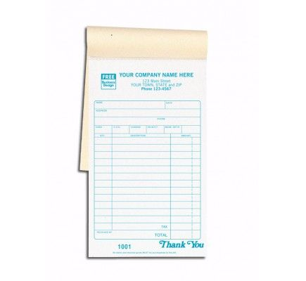 Carbon Copy Sales Receipt Books 2501 Say goodbye to the cumbersome ...