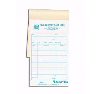 Carbon Copy Sales Receipt Books Item No 2501 Size 4 3/16\