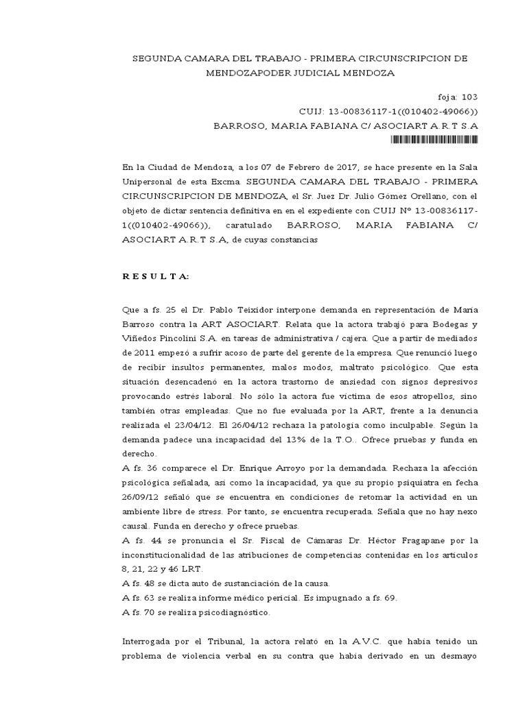 I'm reading Barroso Acoso Sexual Sentencia Definitiva on Scribd
