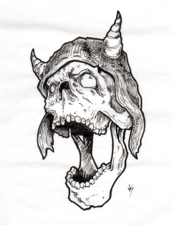 43+ Best Viking skull tattoo flash image ideas