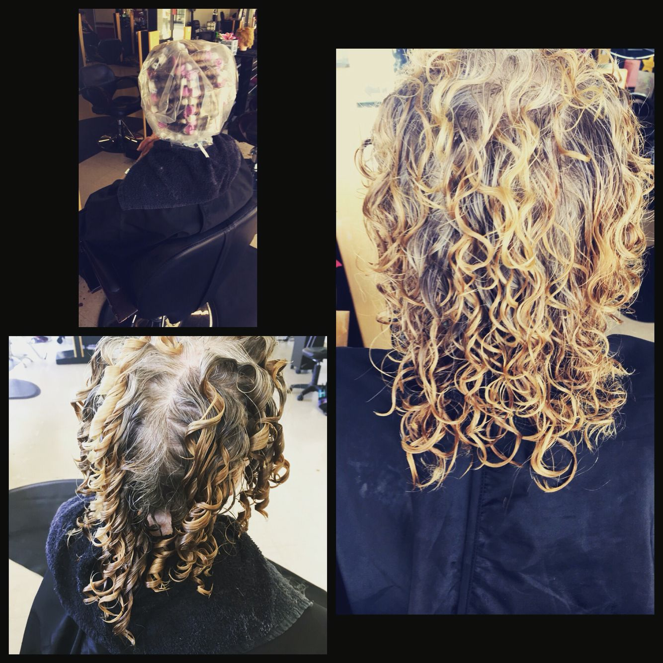 Curls Perm Done With Purple And White Perm Rods Really Long Hair Permed Hairstyles Types Of Curls