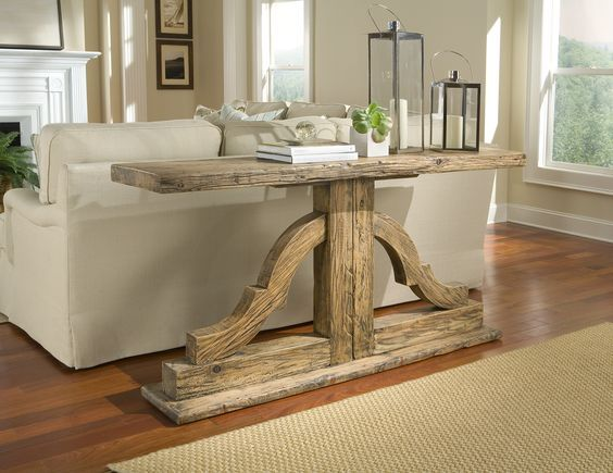 a wonderful console table that you can also doyourself! you just
